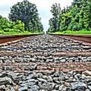 Summer Railroad Tracks Poster