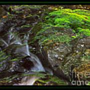 Summer Stream Waterfall Poster