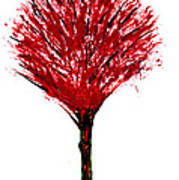 Summer Tree Painting Isolated Poster