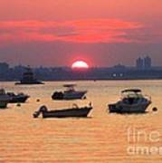 Late Summer Sunset Over The Bay Poster