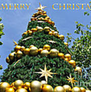 Summertime Christmas With Text Poster by Kaye Menner
