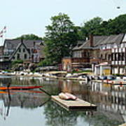 Summertime On Boathouse Row Poster
