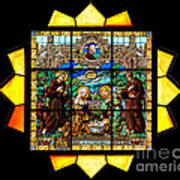 Sun Burst Stained Glass Poster