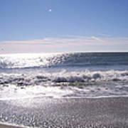 Sun Diamonds On The Surf Poster