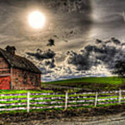 Sun Gazing Upon An Old Barn Poster