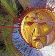 Sun Mask Poster