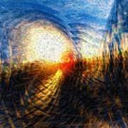 Sun On The Horizon Poster