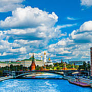 Sun Over The Old Cathedrals Of Moscow Kremlin Poster