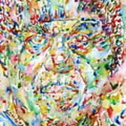 Sun Ra Watercolor Portrait Poster