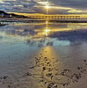 Sun Ray Sunset Saltburn Poster