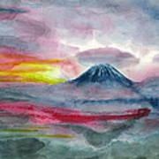 Sun Salutation At Mt. Fuji Poster