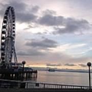 Sun Set Circle Seattle Poster