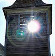 Sun Through The Steeple-by Cathy Anderson Poster
