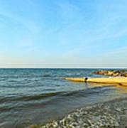 Sundown At Lake Erie  Poster
