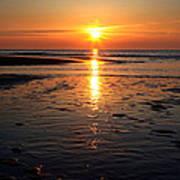 Sundown At The North Sea Poster