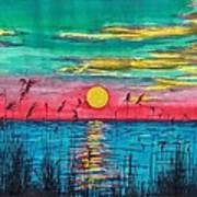 Sundown In The Glades Poster by Beverly Marshall