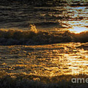 Sundown On The Waves Poster