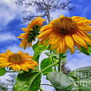 Sunflower Art Poster by George Paris