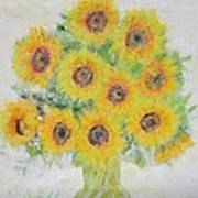 Sunflower Bouquet Poster