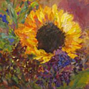Sunflower Dance Original Painting Impressionist Poster