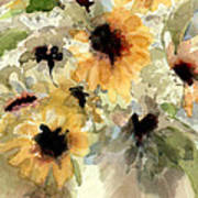 Sunflower Impressions Poster