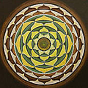 Sunflower Mandala Poster