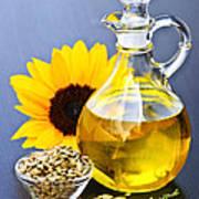 Sunflower Oil Bottle Poster