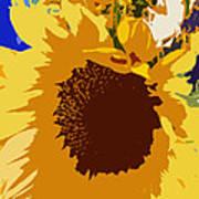 Sunflower Pop Poster