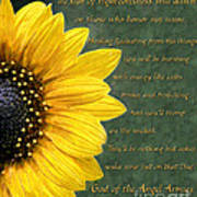 Sunflower Scripture Poster