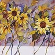 Sunflower Stems Poster