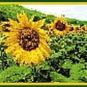 Sunflower Tapestry Poster