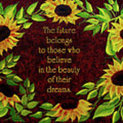 Sunflowers And Future Poem Poster