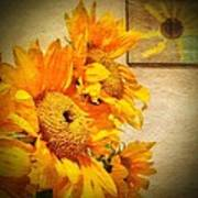 Sunflowers And The Sun Poster