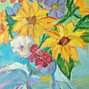 Sunflowers Poster by Brenda Ruark