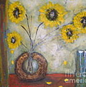 Sunflowers Poster by Elena  Constantinescu