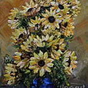 Sunflowers Fantasy Poster