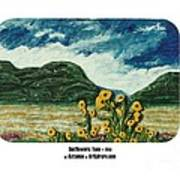 Sunflowers Taos Poster