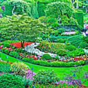 Sunken Garden In Butchart Gardens Near Victoria-british Columbia Poster