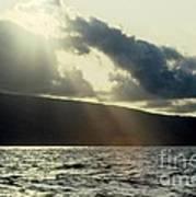 Sunlit Rays Before Sunset Poster
