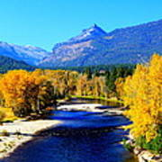 Sunny Autumn Day On A Montana River Poster