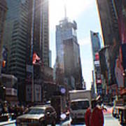 Sunny Days Manhattan Poster