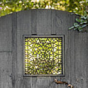 Sunny Garden Gate In Charleston Poster