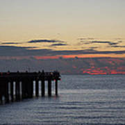 Sunny Isles Fishing Pier Sunrise Poster