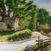 Sunny Lane At Stonycreek Farm For Prints And Greeting Cards And Iphone Covers Poster