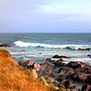 Sunny Ocean Shoreline Poster
