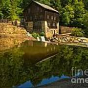 Sunny Refelctions In Slippery Rock Creek Poster