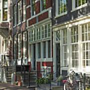 Sunny Street In Amsterdam Poster
