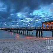 Sunrise At Anglin's Fishing Pier Poster