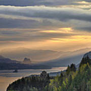 Sunrise At Columbia River Gorge Poster