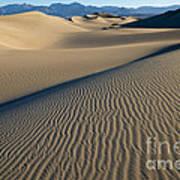 Sunrise At Mesquite Flat Sand Dunes Poster